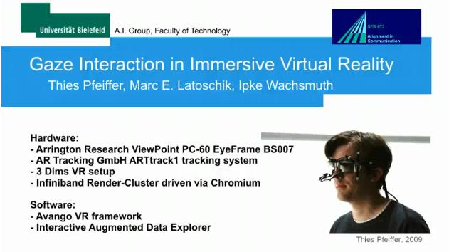 eye tracking and virtual reality